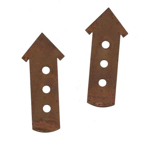 Rusty Tin 3-Story Birdhouse Cutouts