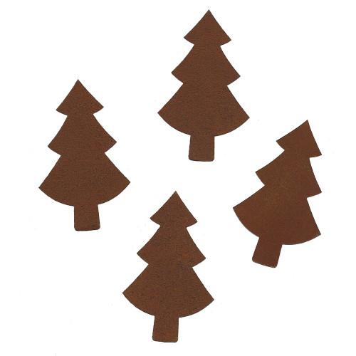 Rusty Tin Pine Tree Shapes