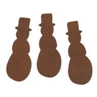 Rusty Tin Snowman Shapes
