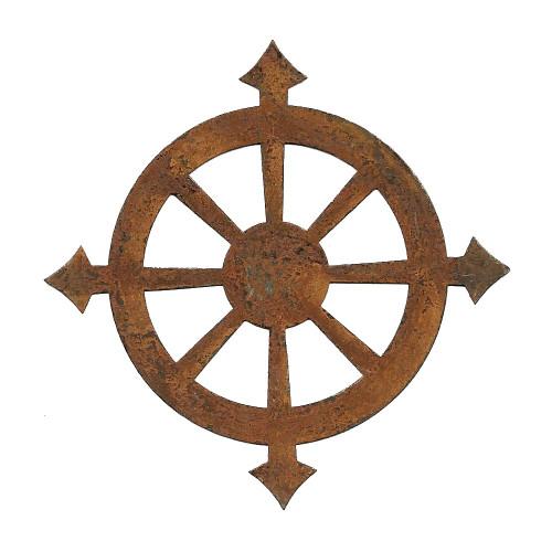 Rusty Tin Compass Shaped Cutouts