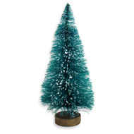 "4"" Frosted Bottle Brush Sisal Trees"