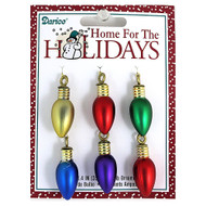 Christmas Light Bulb 35mm Ornaments Matte Metallic