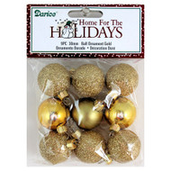 30mm Miniature Gold Glitter Ball Ornaments