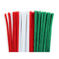 Red White Green Christmas Chenille Stems