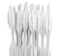 White Bump Chenille Stems