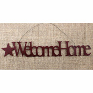 Welcome Home Tin Word Ornament