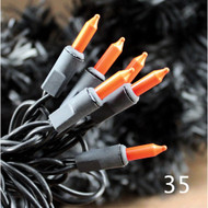 35 Orange Bulbs Black Cord