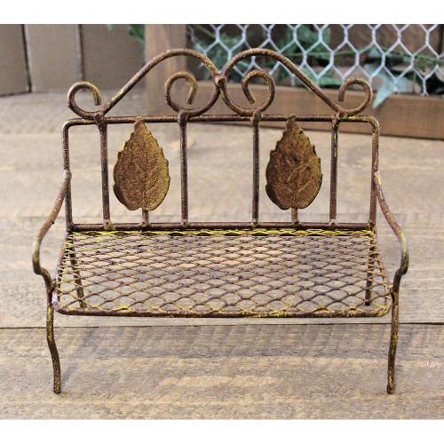 Miniature Rusty Garden Bench