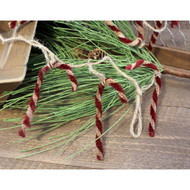 Primitive Candy Cane Garland