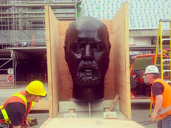 Douglas Coupland's 3D Printed Head