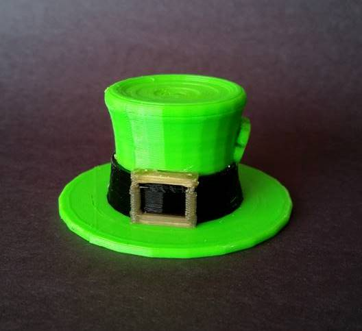 3D Printed St. Pattys Day 3 Color Hat by ORD Solutions