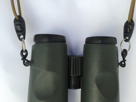 Binocular Lug attachment strap made of rubber designed to connect to most binoculars
