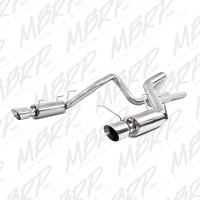 "MBRP S7264409 11-14 Ford Mustang GT 5.0L Dual Split Rear Race Version T409 3"" Cat Back Exhaust System"