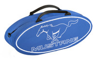 Canvas Mustang Running Pony Tote Bag, Blue