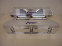 AF-6582-C Anderson Fabricated Polished Aluminum Valve Covers With No Holes For 302 / 351W