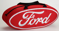 Canvas Ford Oval Tote Bag, Red