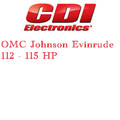 OMC Johnson Evinrude 112 - 115 HP outboard ignition products application guide