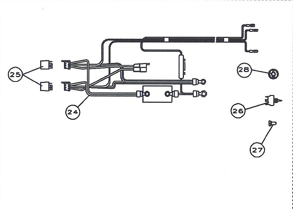 complete cmc jack plate and tilt trim wiring harness 7014g 7123 7124 CMC Jack Plate Wiring Harness