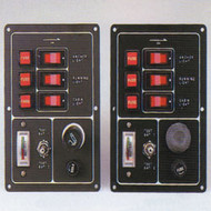 3 Way Fuse/switch Panel With Battery Test Meter - Push Button Horn