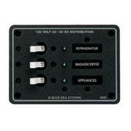 Blue Sea Panel 230Vac 3 Circuit Breaker
