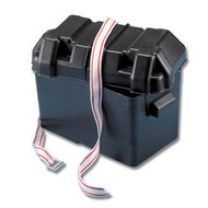 Trem Medium Blk Battery Box C/W Strap 185X355X263H