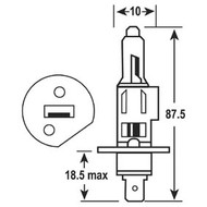 Bulb 12V 55W Quartz H1 Each