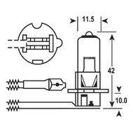 Bulb 12V 55W Quartz H3 Each