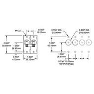 Blue Sea Ac/Dc Toggle Circuit Breaker 2Pol