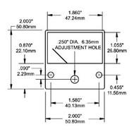 Blue Sea Ammeter Micro 0-50A Dc Ext Shunt