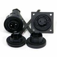 2 Pin Plug & LF Skt Kit IP68 Bulgin DP c/w Caps & Screws