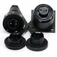 2 Pin Plug & BH Skt Kit IP68 Bulgin DP c/w Caps & Screws