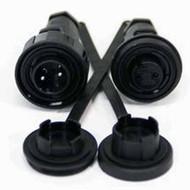 2 Pin Plug & IL Skt Kit IP68 Bulgin DP c/w Caps & Screws
