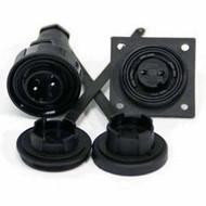 3 Pin Plug & LF Skt Kit IP68 Bulgin DP c/w Caps & Screws