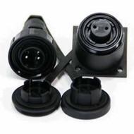 3 Pin Plug & BH Skt Kit IP68 Bulgin DP c/w Caps & Screws