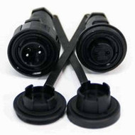 3 Pin Plug & IL Skt Kit IP68 Bulgin DP c/w Caps & Screws