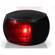 2NM Col Reg Port Lamp Black Shroud Coloured Lens