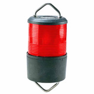 24V Red All Round Light Black Halyard Mount
