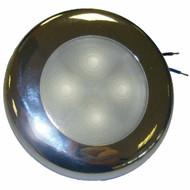 LED Round Slimline 24V White with Stainless Steel Rim