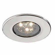 Downlight Stainless Steel 3W 3 LEDs 100mm dia.
