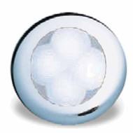 Round LED Lamp White 75mm dia Chrome Cover