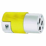 15A 125V 2P 3W straight blade nylon Insulgrip connector body