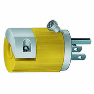 15A 125V 2P 3W straight blade Insulgrip plug w/locking screw