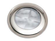 Slimline Blue LED - Stainless Rim 12v