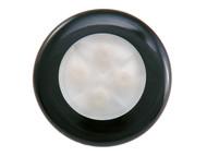 Slimline Blue LED - Black Rim 12v