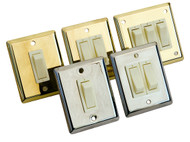 Interior Switch Double Stainless Steel