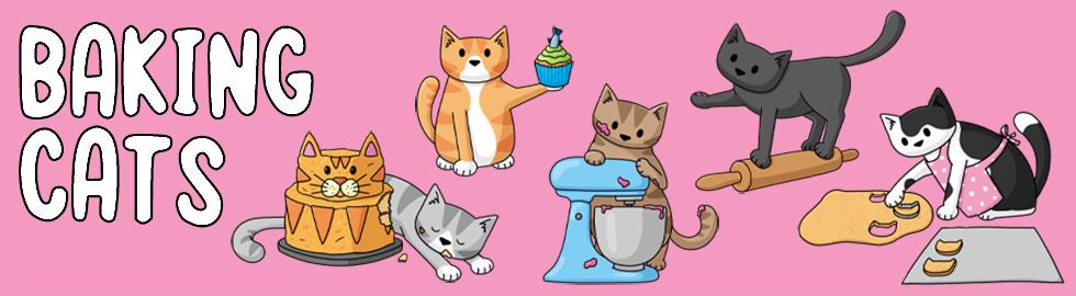 baking cats banner