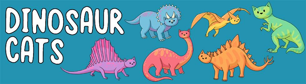dinosaur cats banner