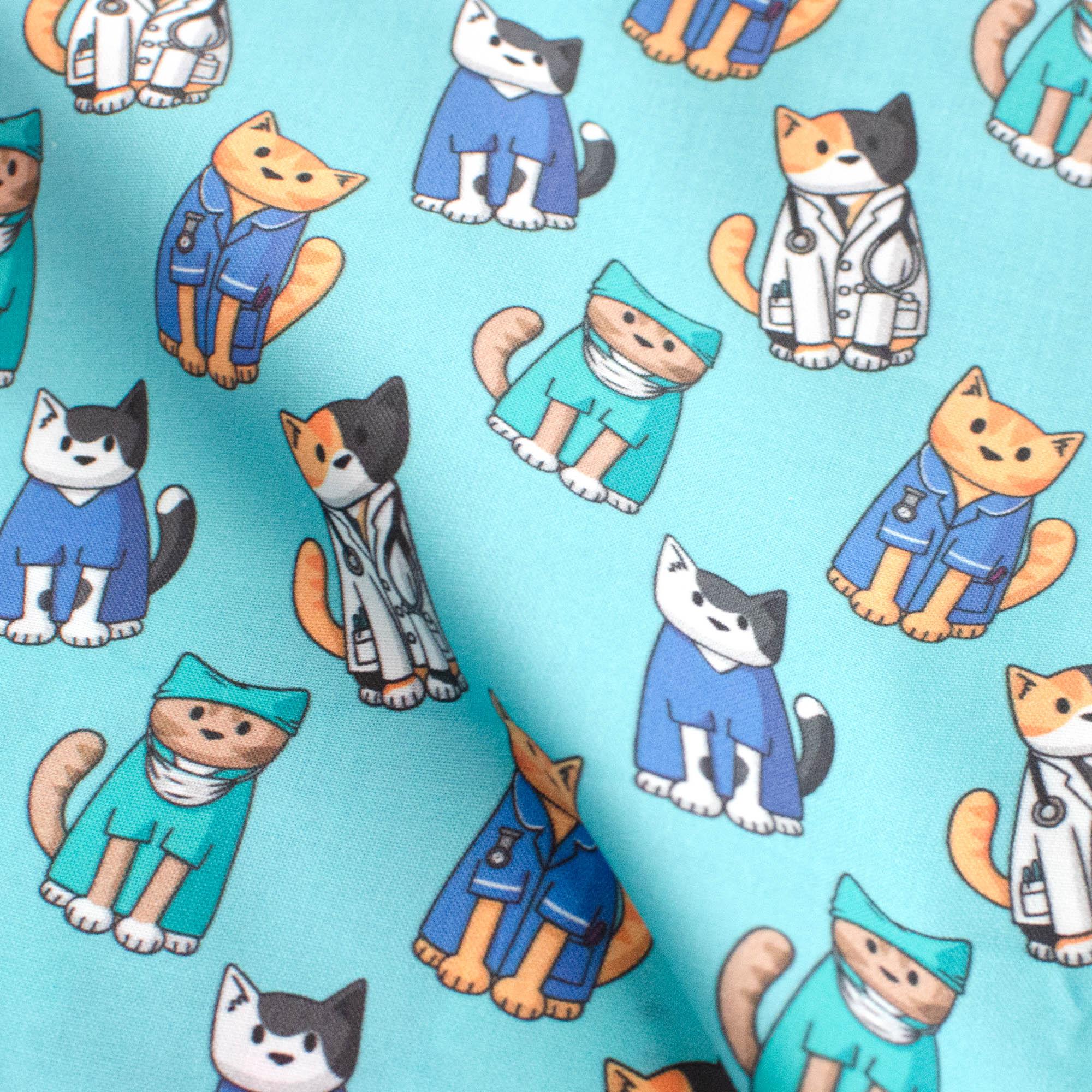 medical cats fabric