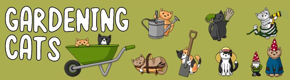 gardening cats banner
