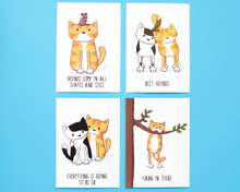 Cat Postcards - Pack of 8